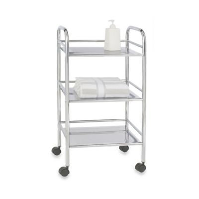 Wenko 3-Tier Chrome Bath Cart
