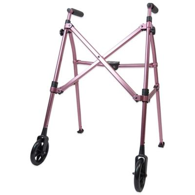 Able Life Space Saver Walker in Regal Rose
