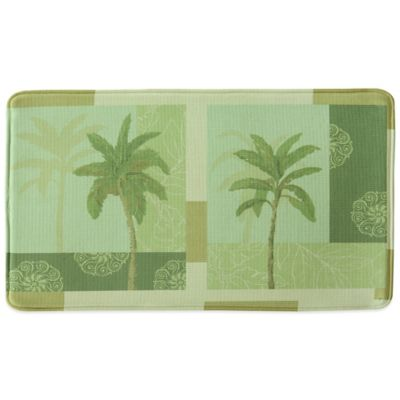 Bacova Palm Collage 20-Inch x 34-Inch Memory Foam Kitchen Mat