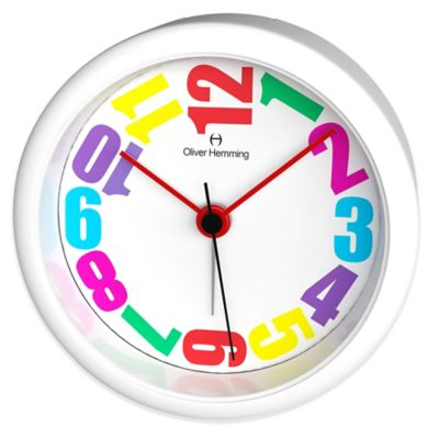 Oliver Hemming City Acrylic Alarm Clock with Rainbow Dial