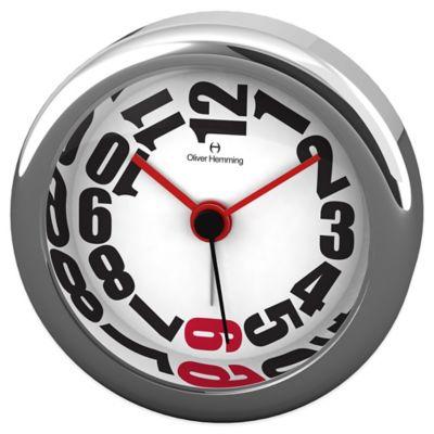 Oliver Hemming Desire Mini Alarm Clock in Chrome