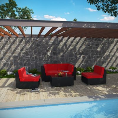 Modway Camfora 5-Piece Wicker Patio Conversation Set