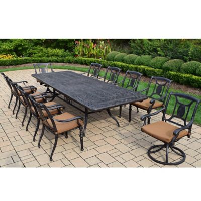 Antique Black Patio Dining Sets