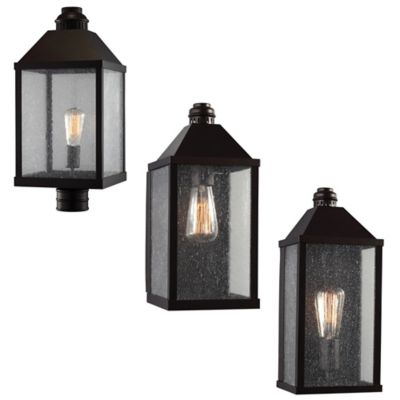 Feiss Lumiere Wall-Mount 15-Inch Outdoor Lantern