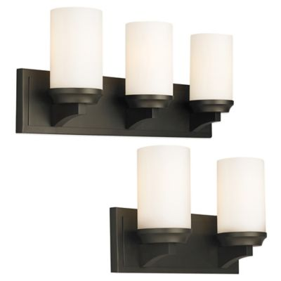 Feiss Amalia 3-Light Wall-Mount Vanity Strip in Oil Rubbed Bronze