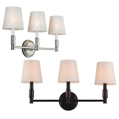 Feiss® Lismore 3-Light Wall Vanity Strip in Polished Nickel
