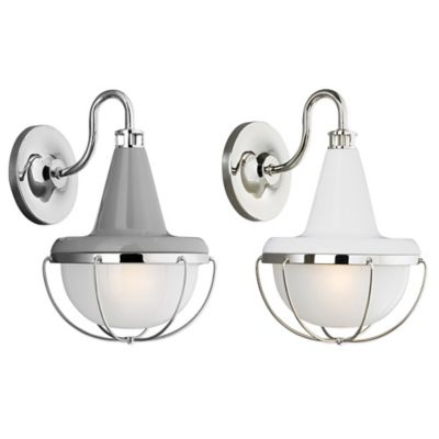 White Glass Wall Sconces