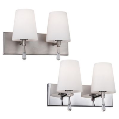 Feiss® Monica 2-Light Vanity Strip in Chrome