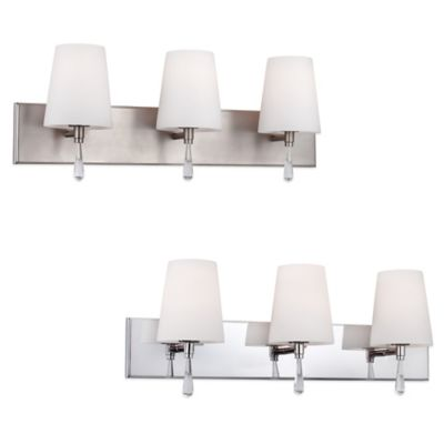 Feiss® Monica 3-Light Vanity Strip in Satin Nickel