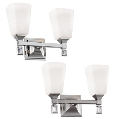 Feiss® Sophie 2-Light Vanity Strip in Polished Nickel