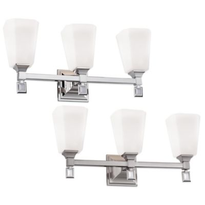 Feiss® Sophie 3-Light Vanity Strip in Polished Nickel