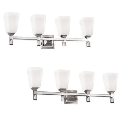 Feiss® Sophie 4-Light Vanity Strip in Polished Nickel
