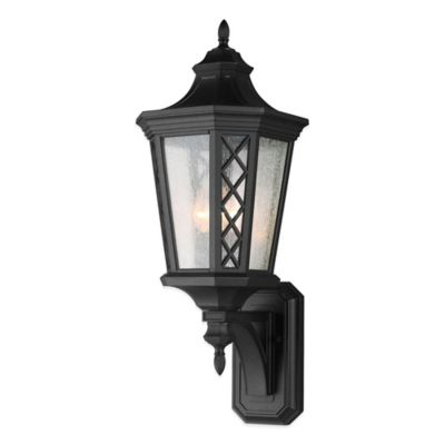 Feiss® Wembley Park 3-Light Wall-Mount Outdoor Lantern in Textured Black