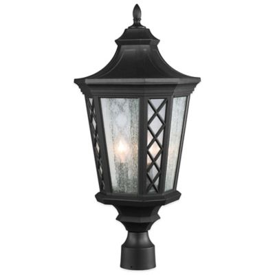 Feiss® Wembley Park 3-Light Post-Mount Outdoor Lantern in Textured Black