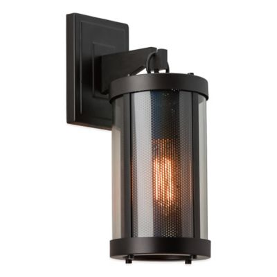 Wall Mount Lamp Bracket : Feiss Bluffton 1-Light Wall-Mount Outdoor Bracket in Oil Rubbed Bronze - Bed Bath & Beyond