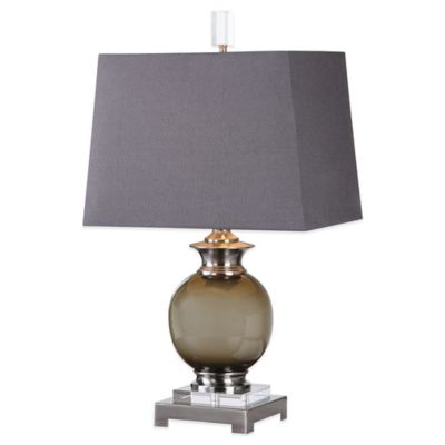 Uttermost Callias Table Lamp in Grey with Linen Shade