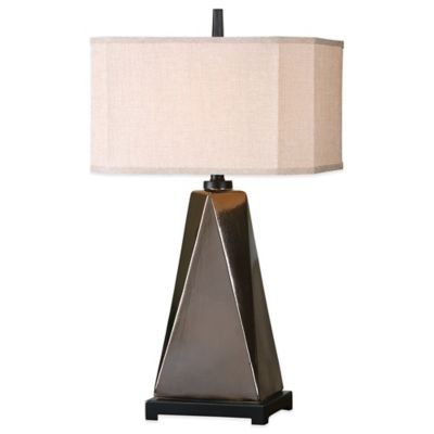 Uttermost Ceppaloni Table Lamp in Bronze with Linen Shade