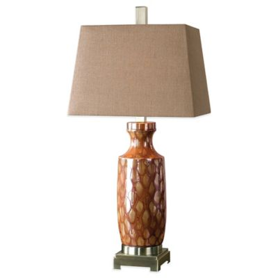 Uttermost Aguilar Table Lamp in Red with Linen Shade