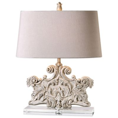 Uttermost Schiavoni Table Lamp in Ivory with Linen Shade