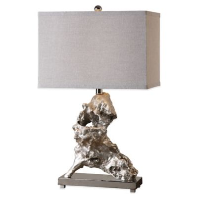 Uttermost Rilletta Table Lamp in Silver with Linen Shade