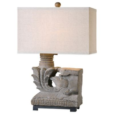 Uttermost Vertova Table Lamp in Natural with Linen Shade