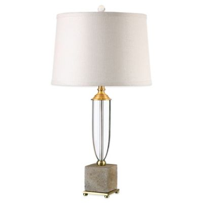 Uttermost Lurano Table Lamp in Brass with Linen Shade