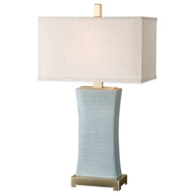 Uttermost Cantarana Table Lamp in Grey with Linen Shade