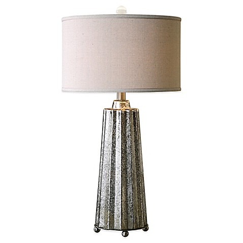 buy uttermost sullivan table lamp in brushed nickel with linen shade. Black Bedroom Furniture Sets. Home Design Ideas