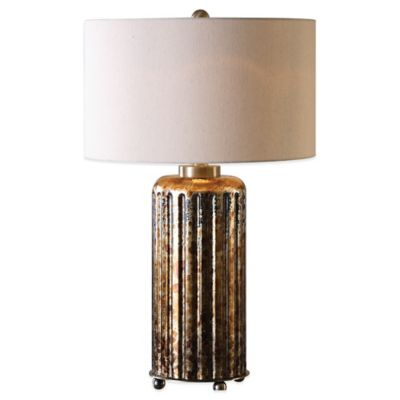 Uttermost Slavonia Table Lamp in Bronze with Linen Shade