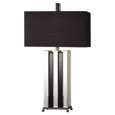 Uttermost Raymer Table Lamp in Brushed Nickel with Linen Shade