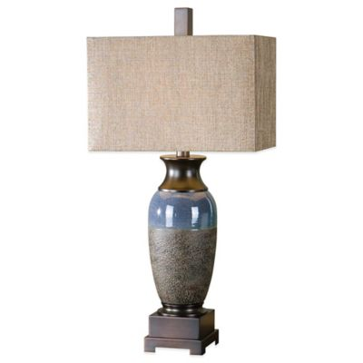 Uttermost Antonito Table Lamp in Bronze with Linen Shade