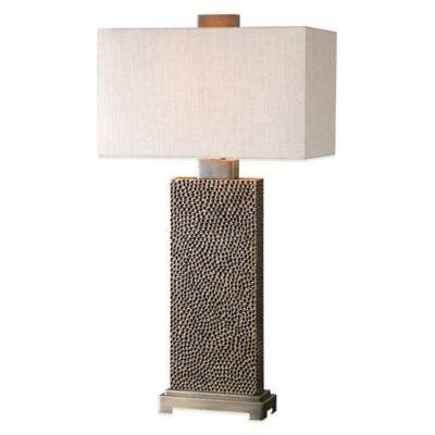 Uttermost Canfield Table Lamp in Bronze with Linen Shade