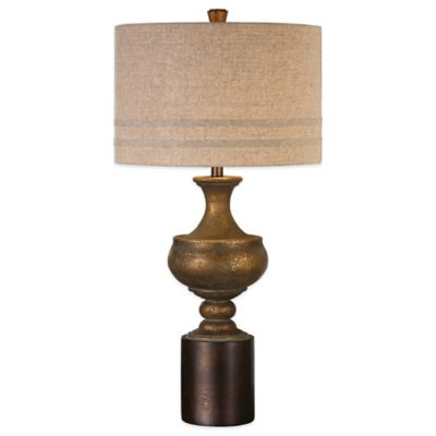 Uttermost Giuliano Table Lamp in Gold with Linen Shade