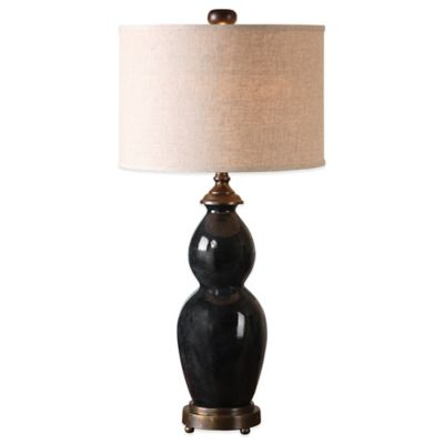 Uttermost Literno Table Lamp in Blue with Linen Shade