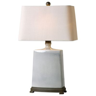 Uttermost Baalon Table Lamp in Grey with Linen Shade