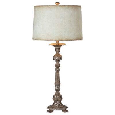 Uttermost Ballena Buffet Lamp in Stone Grey