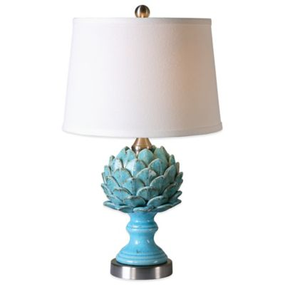 Uttermost Cynara Artichoke Table Lamp in Champagne with Linen Shade