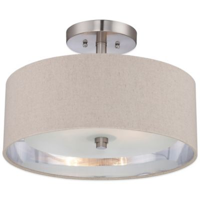 Metro Semi-Flush Mount Ceiling Light in Brushed Nickel