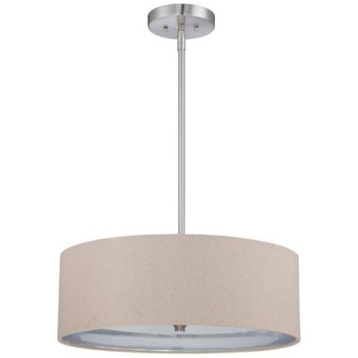 Metro 3-Light Ceiling-Mount Pendant Light in Brushed Nickel