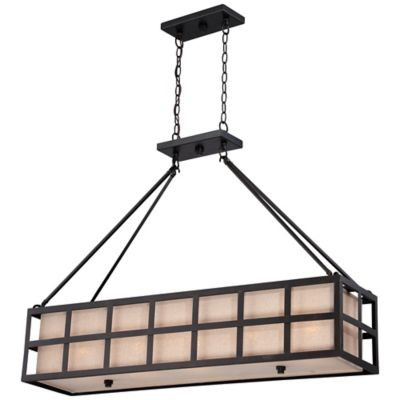 Marisol 5-Light Ceiling-Mount Island Chandelier in Teco Marrone