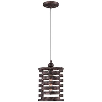Nikos Ceiling-Mount Cord Hung Mini Pendant in Burnished Silver