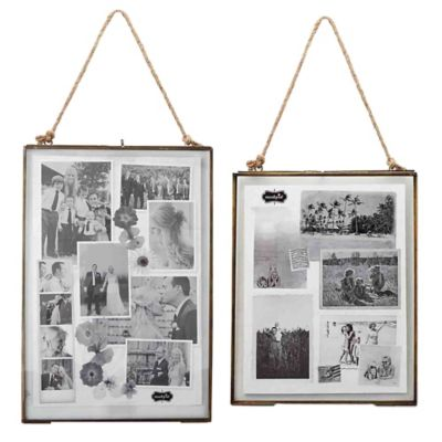 Mud Pie® Hanging 8-Inch x 10-Inch Picture Frame in Brass