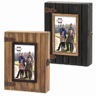 Prinz Woodlands Photo Box in Black/Natural