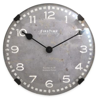 FirsTime® Dome Wall Clock in Graphite