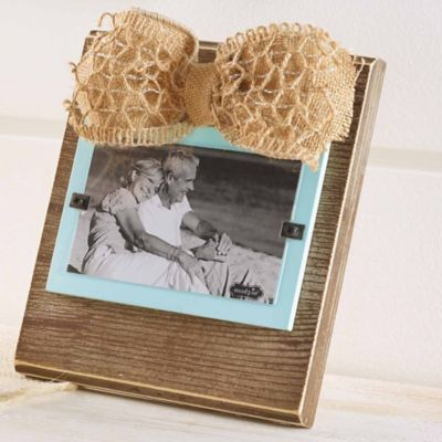 Mud Pie® Pine and Sea Foam 3-Inch x 5-Inch Picture Frame
