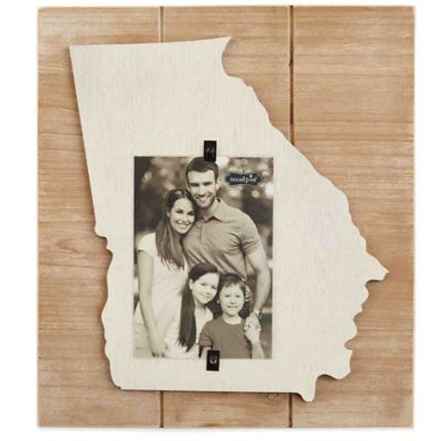 Mud Pie® Georgia 4-Inch x 6-Inch Wood Picture Frame