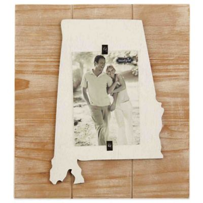 Mud Pie® Alabama 4-Inch x 6-Inch Wood Picture Frame