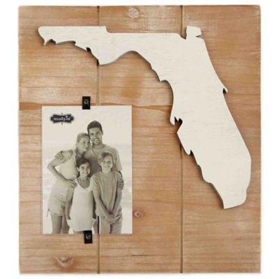 Mud Pie® Florida 4-Inch x 6-Inch Wood Picture Frame