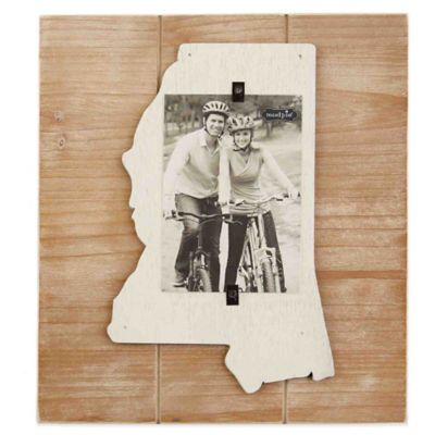 Mud Pie® Mississippi 4-Inch x 6-Inch Wood Picture Frame