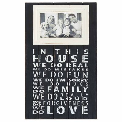 "Mud Pie® ""In This House"" 4-Inch x 6-Inch Picture Frame"